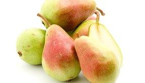 Las peras son aperitivo saludable.