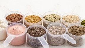 Recipientes de los cereales con mayor porcentaje de proteínas