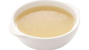 Sopa a base de caldo.