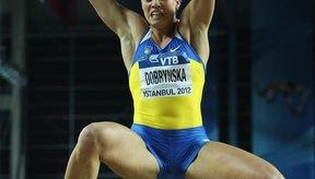 Natallia Dobrynska de Ucrania estableció un récord mundial de pentatlón bajo techo  en 2012.