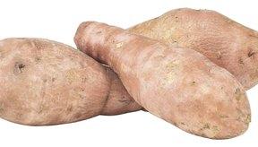 Las batatas poseen un alto contenido de fibras.
