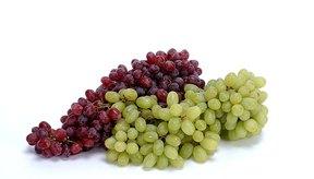 Las uvas son una fruta baja en potasio.