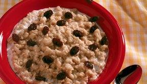 Un bol de avena es un desayuno sano y sustancioso.