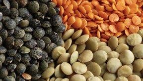 Las lentejas vienen en una variedad de colores.