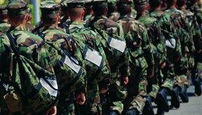 Las cinco divisiones militares tienen diferentes requisitos de peso.