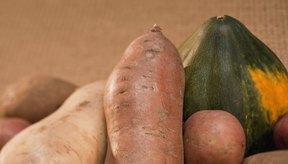 Las patatas, las batatas y la calabaza de invierno tienen muchos carbohidratos.