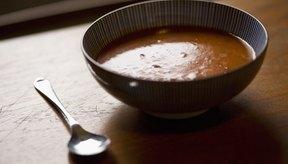 La sopa de frijol es una rica fuente de fibra.