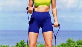 Las ligas de resistencia son una buena alternativa a las pesas.