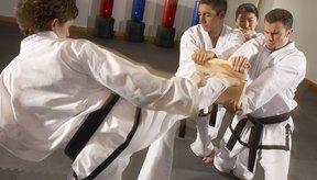 Tal vez el mejor blanco para desarrollar una buena patada lateral es un compañero de entrenamiento con experiencia.