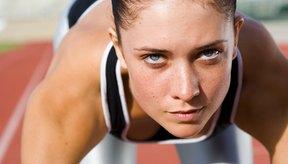 Mujer a punto de correr una maratón.
