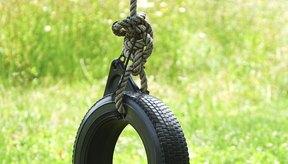 Un neumático simple o anillo de tiro pueden ser un excelente blanco fijo.