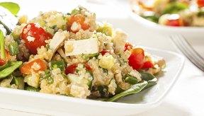 Tofu, quinoa y harina vegetal.