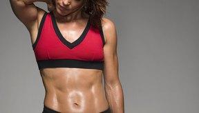Las mujeres no obtienen tanta masa muscular como los hombres.
