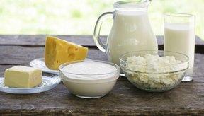 Una variedad de productos lácteos.