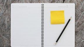 Utiliza cualquier tipo de anotador para llevar un registro.