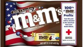 Mars Inc., el padre de M&M, se torna patriótico en algunas de sus creaciones.