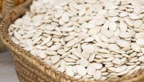 Canasta con semillas de calabaza