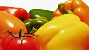 Los pimientos (bell peppers) y los tomates son miembros de la familia de las solanáceas.
