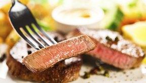 La carne es una buena fuente de zinc.
