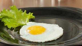 Plato con un huevo.