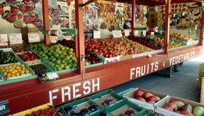 Venta de frutas en un mercado