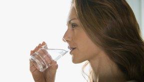 Asegúrate de beber mucha agua.
