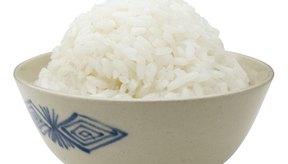 El arroz blanco es parte de la dieta BRAT.
