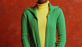 Mujer con suéter de rayón.