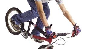 El ciclismo extremo requiere equilibrio, técnica y el uso de los brazos.