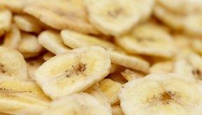 Los plátanos deshidratados son una fuente concentrada de nutrientes.