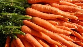 Las zanahorias son ricas en betacaroteno.