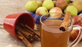 Sidra de manzana caliente.