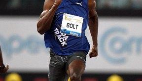 El jamaiquino Usain Bolt compite en una prueba de 100 metros en una prueba de atletismo en Roma.