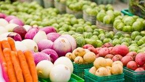 Vegetales en venta en un mercado