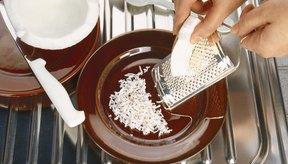 Es más fácil comprar coco rallado que rallarlo tú mismo.