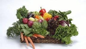 La dieta incluye una gran cantidad de vegetales.