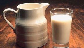 Un vaso de leche entera