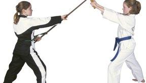 Una vara bo es una de las armas tradicionales en las artes marciales.