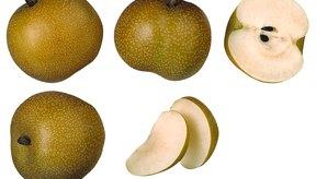 Las peras asiáticas tienen mayor contenido de fibra que las variedades domésticas