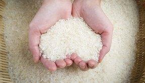 Mujer sosteniendo arroz.