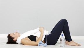Descansando luego de levantar pesas.