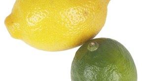 Los limones y las limas contienen ácido cítrico.