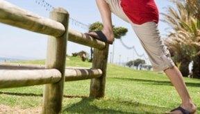 El estiramiento reduce el dolor en todo el muslo.