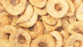 Las manzanas deshidratadas pueden guardarse hasta por 1 año.