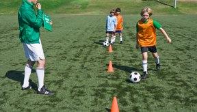El entrenador puede pedirle a los jugadores que hagan ejercicios de control.