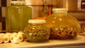 Las verduras en aceite pueden causar botulismo.