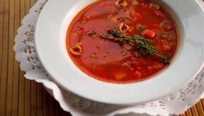 La sopa puede mantenerse en la nevera por un par de días.