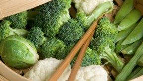 Las verduras al vapor proporcionan un plato sano y colorido.