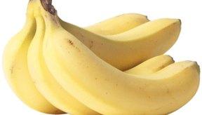 Como un fresco plátano como elección de fruta no ácida.