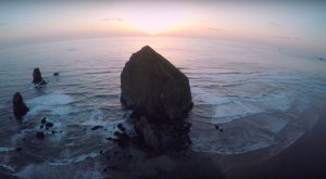 What This Drone Footage Caught In Oregon Will Drop Your Jaw